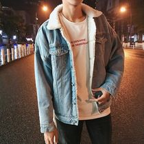 Short Denim Blended Fabrics Street Style Plain Denim Jackets