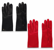 Louis Vuitton V Plain Leather Leather & Faux Leather Gloves