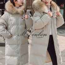 Casual Style Faux Fur Plain Medium Parkas