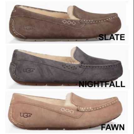 UGG Australia Loafer Rubber Sole Sheepskin Loafer Pumps & Mules 2