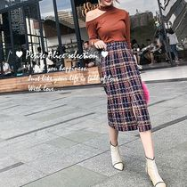 Pencil Skirts Glen Patterns Tartan Casual Style Tweed