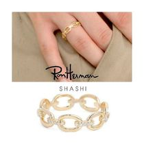Ron Herman Chain Handmade 18K Gold Elegant Style Rings