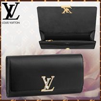 Louis Vuitton LOUISE Blended Fabrics Plain Leather With Jewels Elegant Style