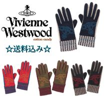 Vivienne Westwood Star Leather Khaki Leather & Faux Leather Gloves