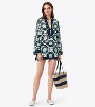 Tory Burch Casual Style Long Sleeves Cotton Tunics