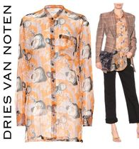 Dries Van Noten Flower Patterns Star Casual Style Silk Long Sleeves Long