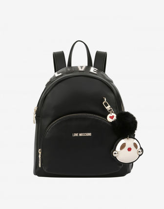 Casual Style Street Style Plain PVC Clothing Backpacks