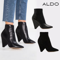 ALDO Plain Leather Ankle & Booties Boots