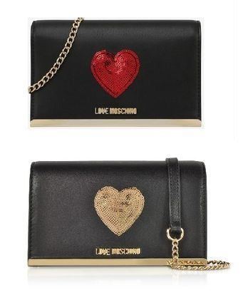 Heart Chain Party Style PVC Clothing Shoulder Bags