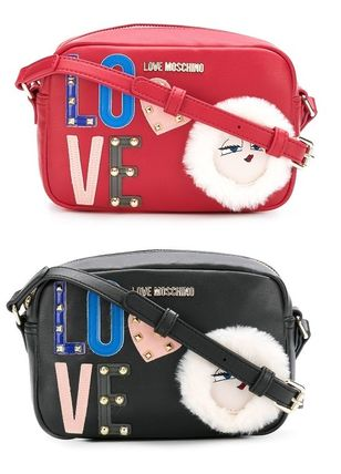 Casual Style Street Style PVC Clothing Shoulder Bags