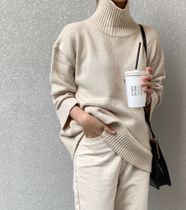 Casual Style Rib Street Style Long Sleeves Plain Medium