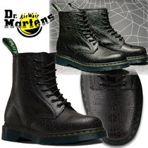 Dr Martens Lace-up Casual Style Unisex Velvet Street Style