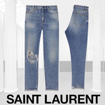 Saint Laurent Casual Style Denim Street Style Plain Long