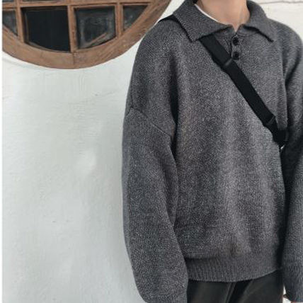 Knits & Sweaters Long Sleeves Plain Cotton Knits & Sweaters 7