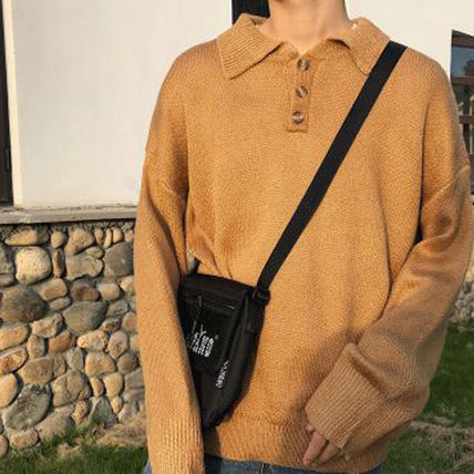 Knits & Sweaters Long Sleeves Plain Cotton Knits & Sweaters 16