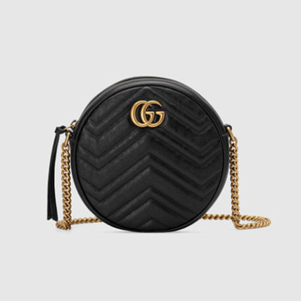 GUCCI GG Marmont Heart Casual Style Plain Leather Crossbody Shoulder Bags