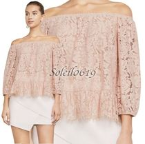 BCBG MAXAZRIA Flower Patterns Plain Party Style Lace