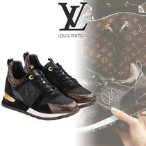 Louis Vuitton Monogram Wedge Plain Toe Lace-up Casual Style