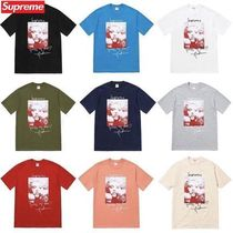 Supreme Crew Neck Unisex Street Style Cotton Short Sleeves