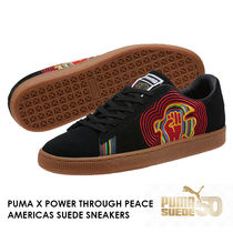 PUMA SUEDE Unisex Suede Street Style Collaboration Low-Top Sneakers