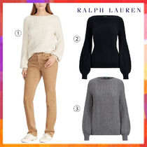 Ralph Lauren Cable Knit Casual Style Wool Long Sleeves Plain Medium