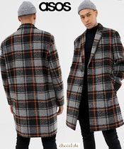 ASOS Other Check Patterns Wool Street Style Coats