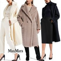 MaxMara Plain Medium Cashmere & Fur Coats