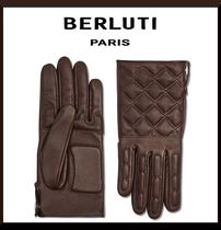 Berluti Plain Leather Leather & Faux Leather Gloves