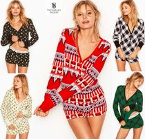 Victoria's secret Flower Patterns Blended Fabrics Cotton Lounge & Sleepwear