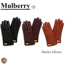 Mulberry Plain Leather Leather & Faux Leather Gloves
