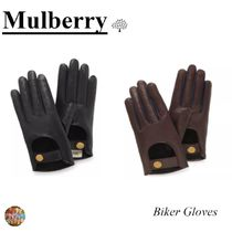 Mulberry Bi-color Leather Leather & Faux Leather Gloves
