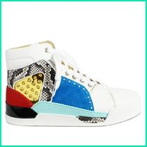 Christian Louboutin Suede Studded Plain Sneakers