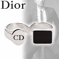 DIOR HOMME Street Style Silver Rings