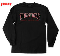 THRASHER Crew Neck Street Style Collaboration Long Sleeves