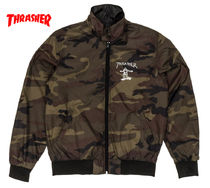 THRASHER Camouflage Street Style Coach Jackets Coach Jackets