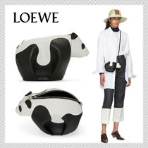 LOEWE Casual Style Calfskin Other Animal Patterns Shoulder Bags