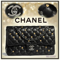 CHANEL TIMELESS CLASSICS Lambskin 2WAY Chain Elegant Style Shoulder Bags