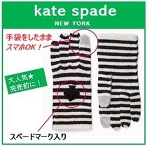 kate spade new york Stripes Casual Style Smartphone Use Gloves