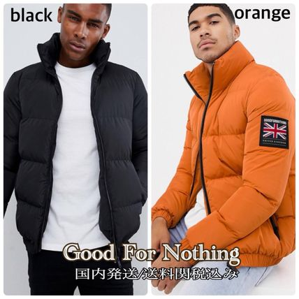 Short Plain Down Jackets