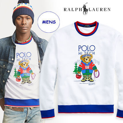 Ralph Lauren Sweatshirts Crew Neck Long Sleeves Cotton Sweatshirts