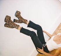 Naked Wolfe Leopard Patterns Platform Round Toe Leather Party Style