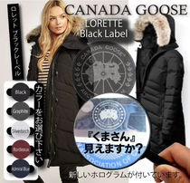 CANADA GOOSE LORETTE Fur Plain Down Jackets