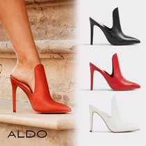 ALDO Plain Leather Pin Heels Heeled Sandals