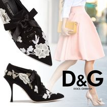 Dolce & Gabbana Flower Patterns Pin Heels Ankle & Booties Boots