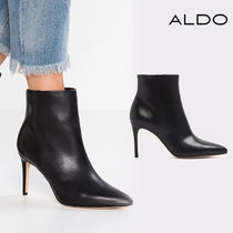 ALDO Plain Leather Pin Heels Ankle & Booties Boots