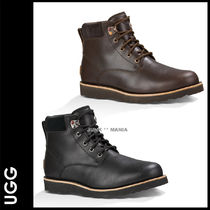 UGG Australia Plain Toe Street Style Plain Leather Boots