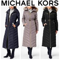 Michael Kors Blended Fabrics Plain Long Down Jackets