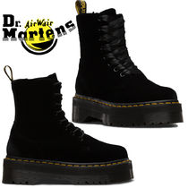 Dr Martens JADON Lace-up Casual Style Unisex Velvet Street Style