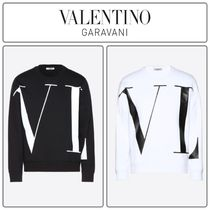 VALENTINO Long Sleeves Cotton Oversized Sweatshirts