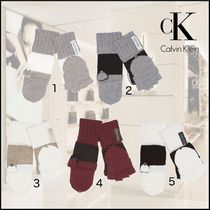 Calvin Klein Casual Style Street Style Plain Smartphone Use Gloves